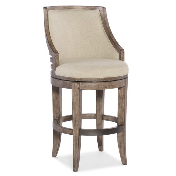 Lainey Transitional Swivel Bar Stool by Hooker Furniture