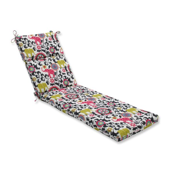 Menagerie Indoor/Outdoor Chaise Lounge Cushion by Pillow Perfect