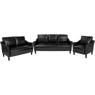 Mitesh Faux Leather Living Room Set by Winston Porter