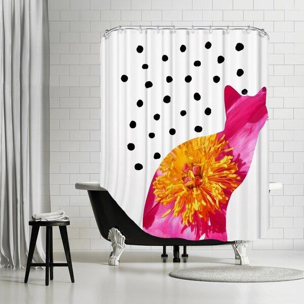 Ikonolexi Cat 3 Shower Curtain by Brayden Studio