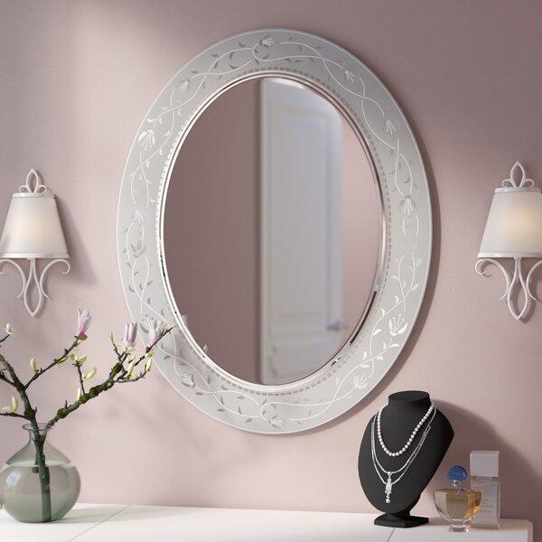 Morandiere Etched Border Bathroom/Vanity Mirror by Lark Manor