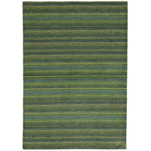 One-of-a-Kind Groom Hand-Knotted Wool Green Area Rug by Isabelline