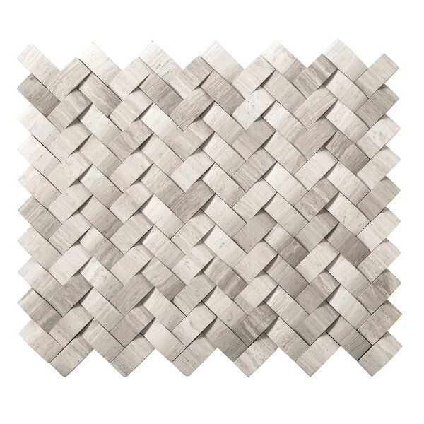 Metro Twine Marble Mosaic Tile in Cream by Emser Tile