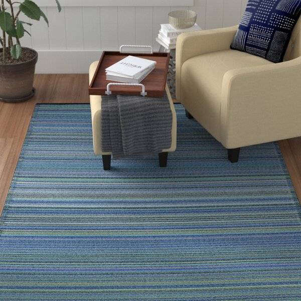 Caroline Blue Outdoor Area Rug by Winston Porter