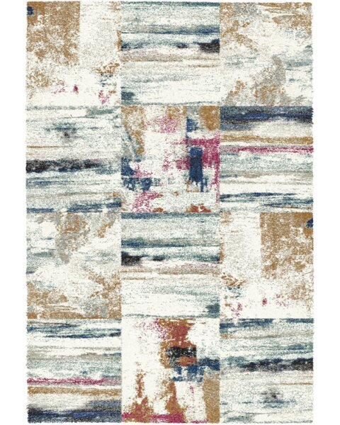 Foerster Ivory/Gray Area Rug by Bungalow Rose