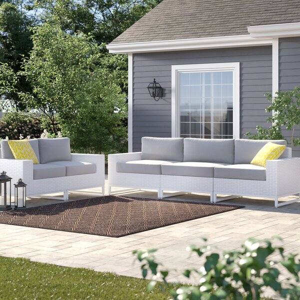 Menifee 5 Piece Sofa Seating Group with Cushions by Sol 72 Outdoor Sol 72 Outdoor