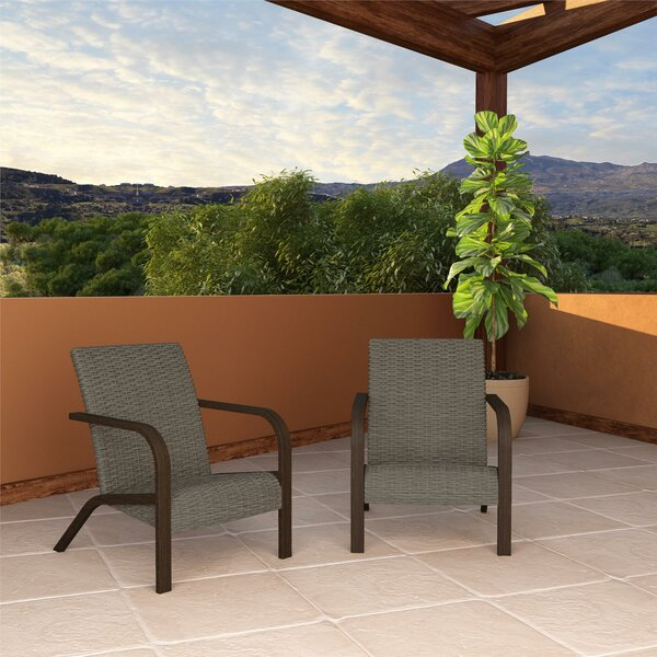 Tiemann Patio Chair (Set of 2) by Winston Porter