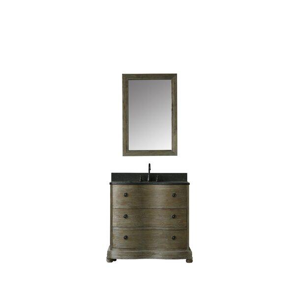 Aldo 38 Single Bathroom Vanity Set with Mirror by Millwood Pines