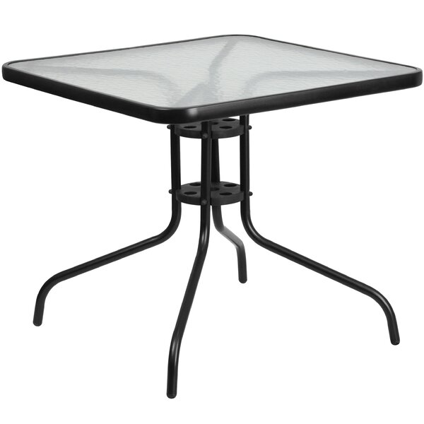 McKinley Glass Dining Table by Charlton Home
