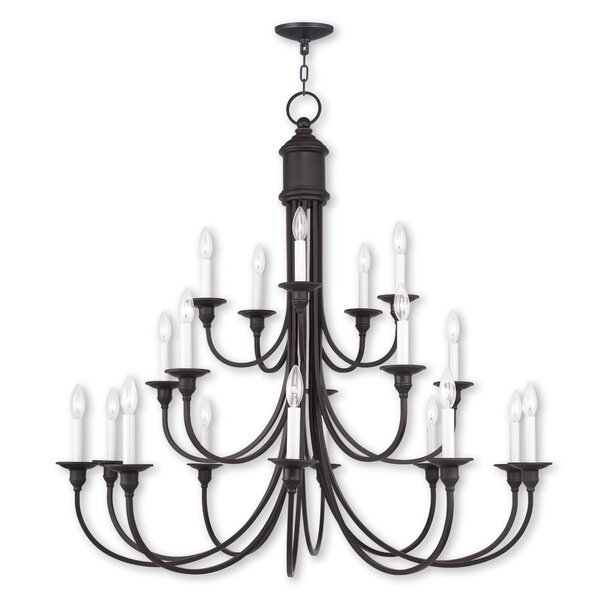 Eckard 20-Light Candle Style Tiered Chandelier By Darby Home Co