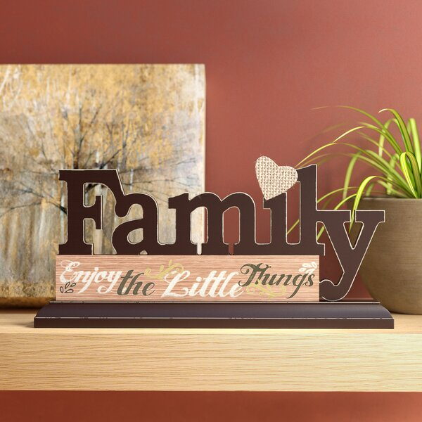 Geissler Family Tabletop Plaque Letter Block by Andover Mills