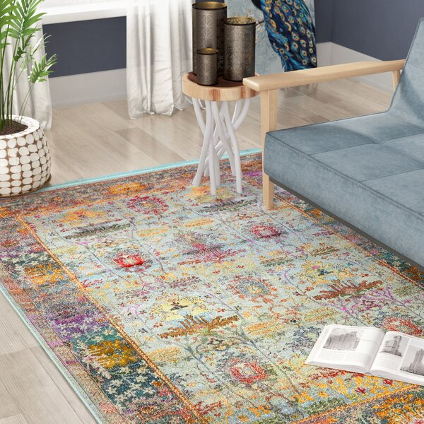 Lonerock Light Blue Area Rug by Bungalow Rose