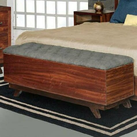 Aurora Fabric Storage Bench by REZ Furniture