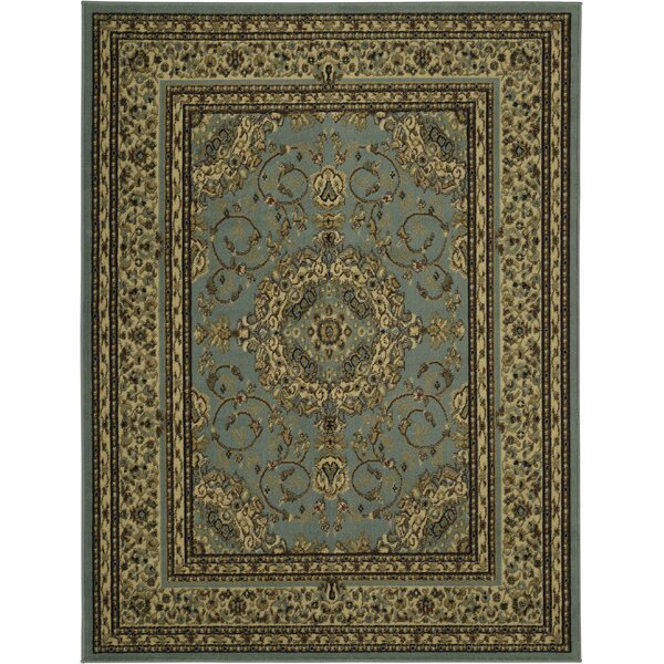 Steadham Medallion Blue/Tan Area Rug by Charlton Home
