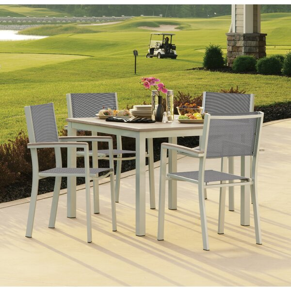 Farmington 5 Piece Dining Set with Sling Back Chairs by Latitude Run