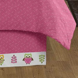Night Owl Queen Bed Skirt by Sweet Jojo Designs