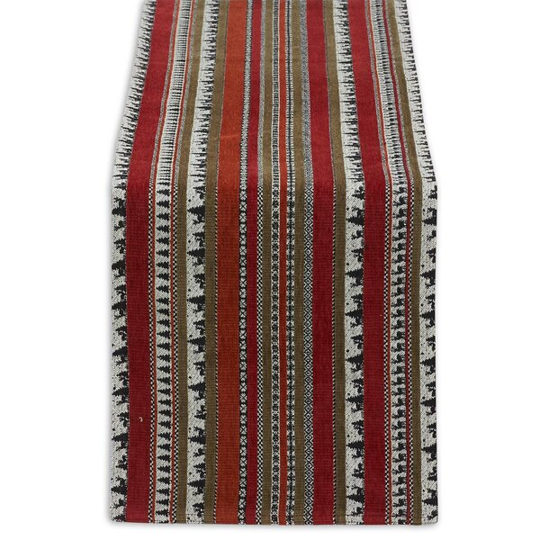 Wilderness Striped Tapestry Table Runner by Design Imports