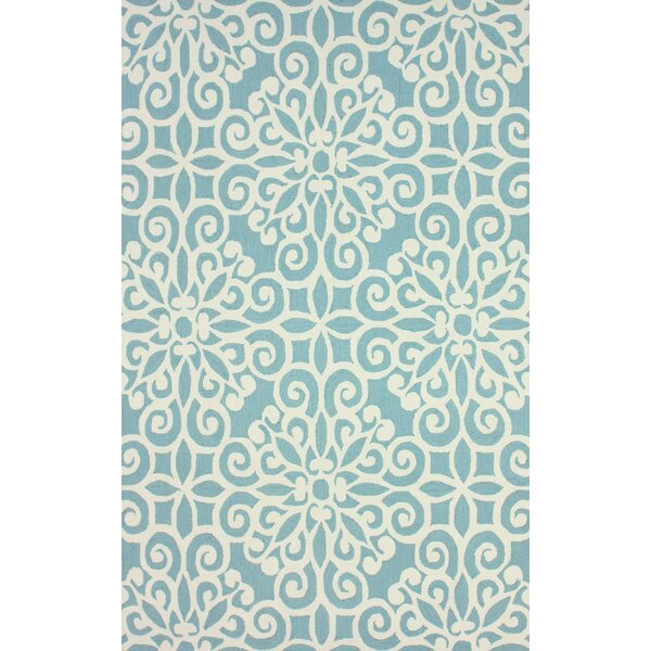 Vista Hand-Hooked Light Blue Area Rug by nuLOOM