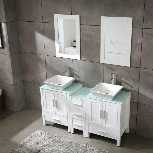 Sheetal 60 Double Bathroom Vanity Set with Mirror
