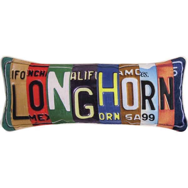 Longhorn - Dye Lumbar Pillow by Manual Woodworkers & Weavers