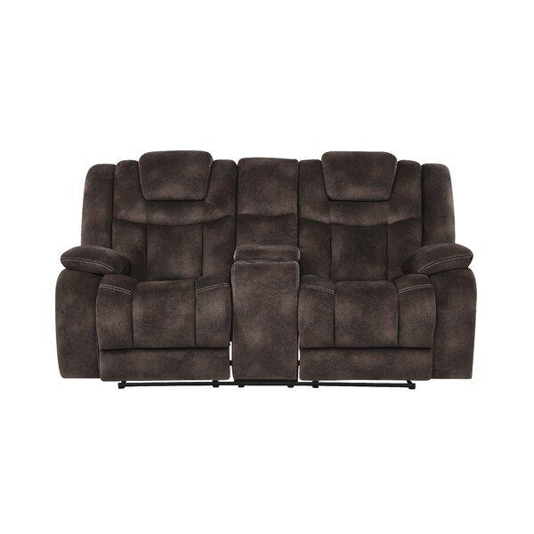 Pradeep Power Adjustable Headrest Console Reclining Sofa by Red Barrel Studio