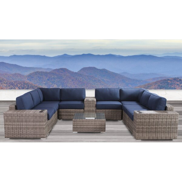 Lazaro 12 Piece Sectional Seating Group with Sunbrella Cushions by Sol 72 Outdoor