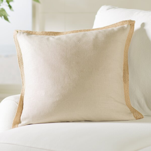 Longford Linen Throw Pillow by Beachcrest Home