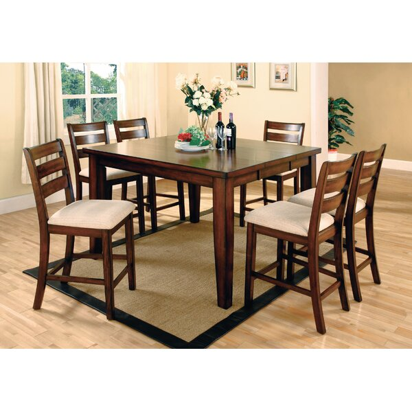 Pristine 7 Piece Counter Height Extendable Dining Set by Hokku Designs