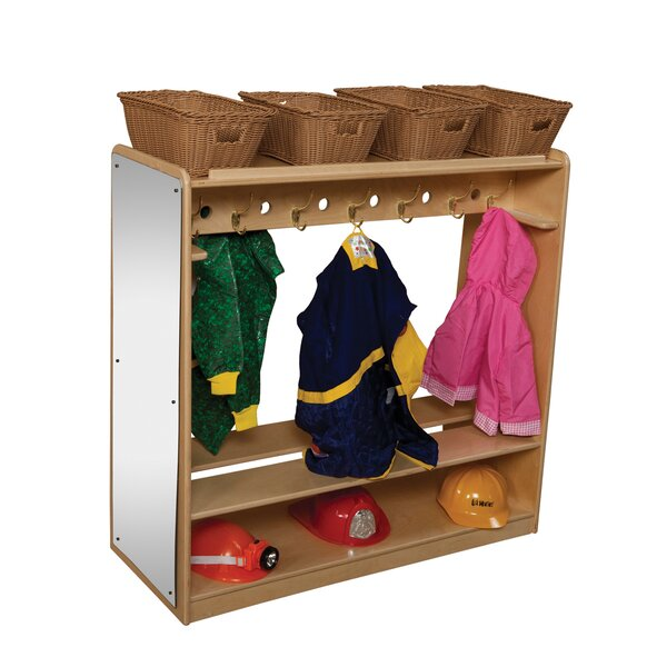 Natural Environment 2 Tier 1 Wide Coat Locker by Wood Designs