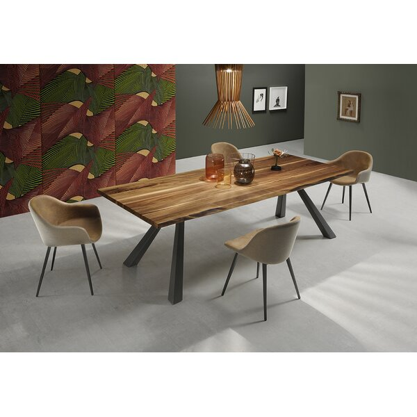 Zeus MT Dining Table with Wood Top by Midj Midj