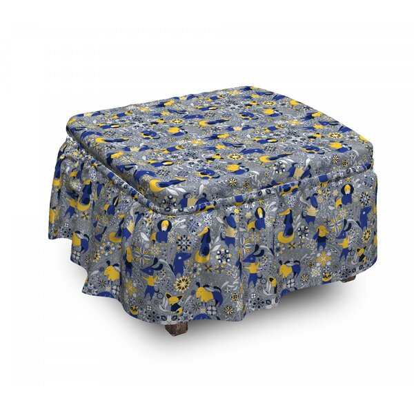 Chaotic Puppies Ottoman Slipcover (Set Of 2) By East Urban Home