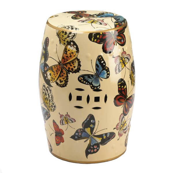 Hemel Butterflies in Flight Garden Stool by August Grove