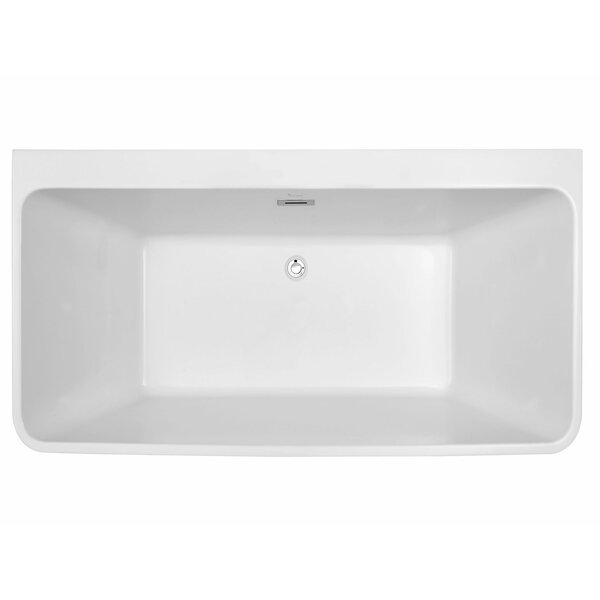 Bordeaux 59 L x 28 W Freestanding Soaking Bathtub by Finesse