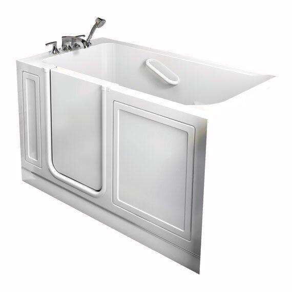 Acrylic 51 x 30 Walk-In Air/Whirlpool Bathtub with Air Spa by American Standard