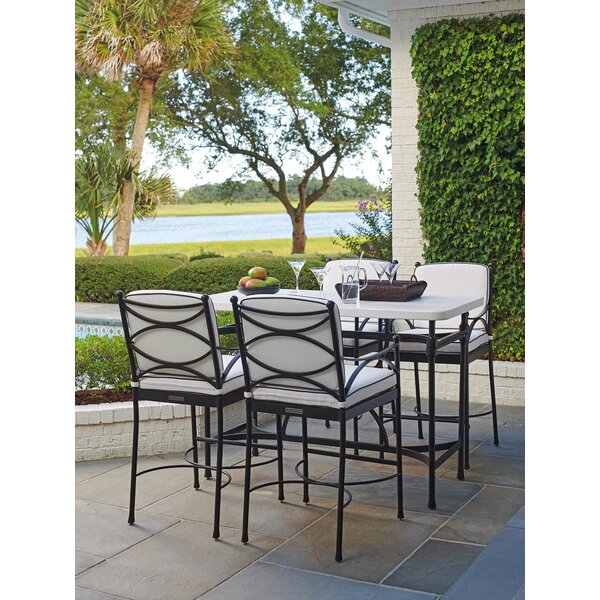 5 Piece Bar Height Dining Set with Sunbrella Cushions by Tommy Bahama Outdoor