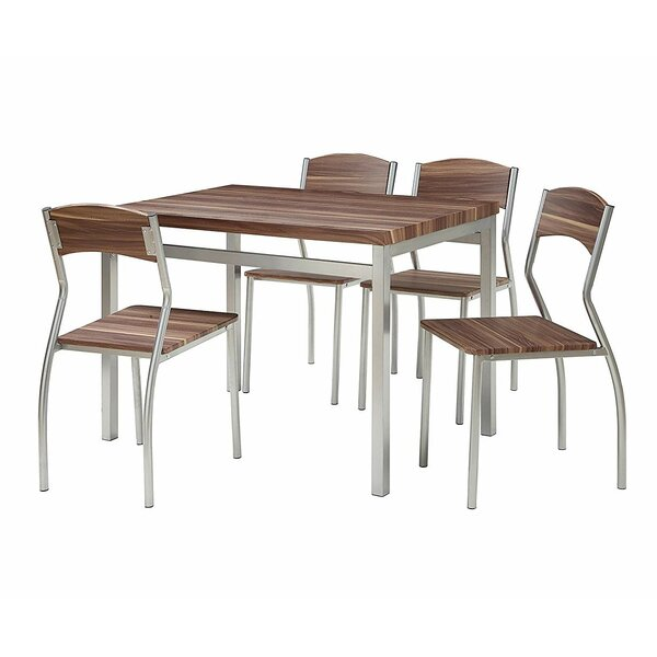 Kaelin 5 Piece Dining Set by Wrought Studio