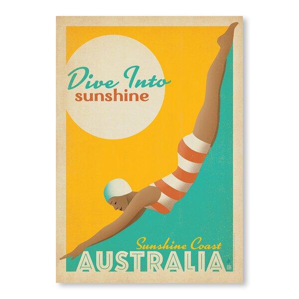 Dive into Sunshine Australia Vintage Advertisement by East Urban Home