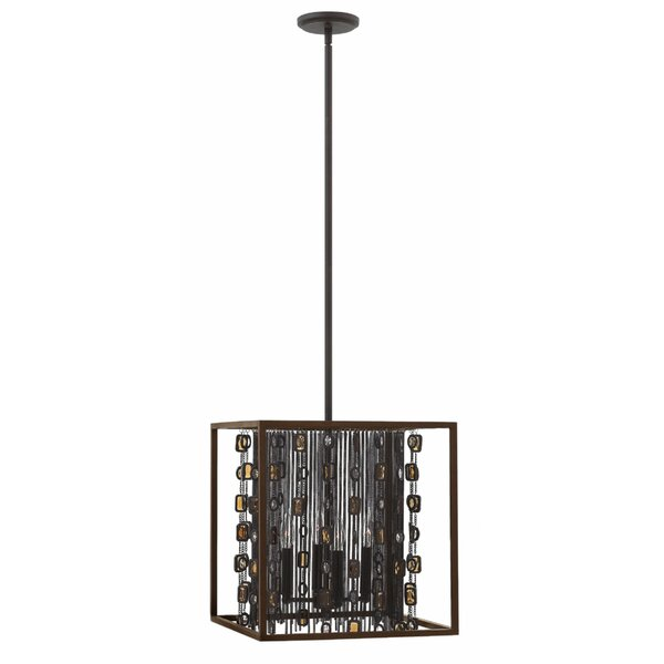 Mercato 4-Light Unique / Statement Rectangle / Square Chandelier By Hinkley