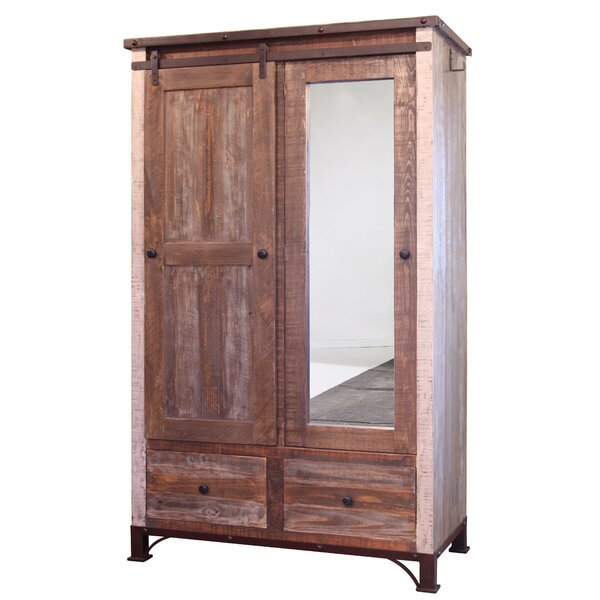Rizer Mirror 1 Door Armoire by Loon Peak