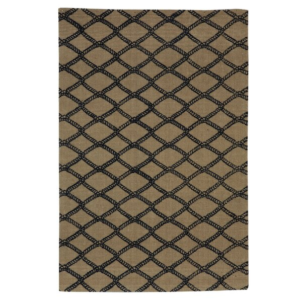 Marina Hand-Woven Taupe/Black Area Rug by Split P