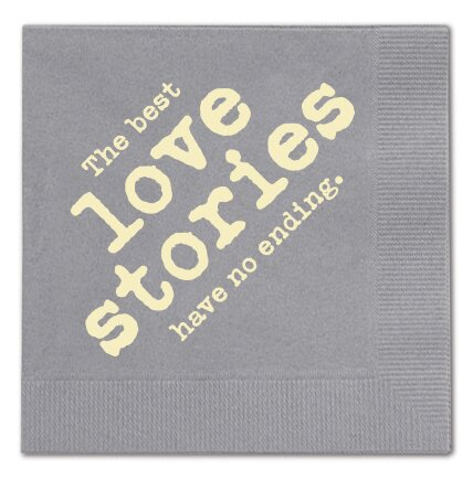The Best Love Stories Cocktail Napkin (Set of 25) by Breathless Paper Co.