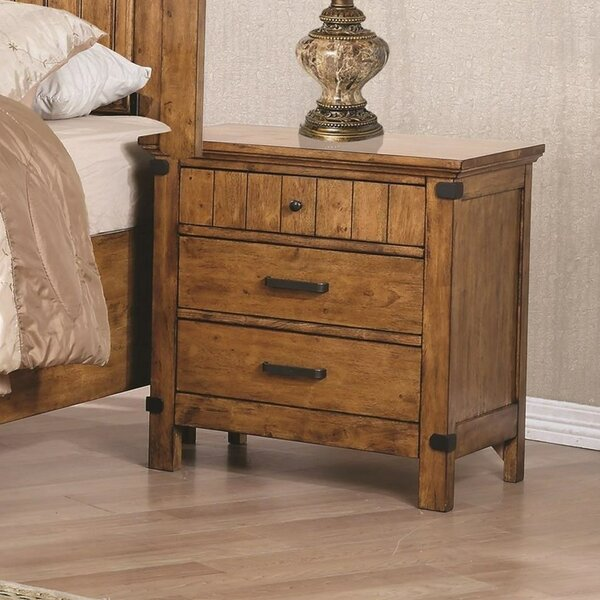 Dowell 3 Drawers Nightstand by Millwood Pines