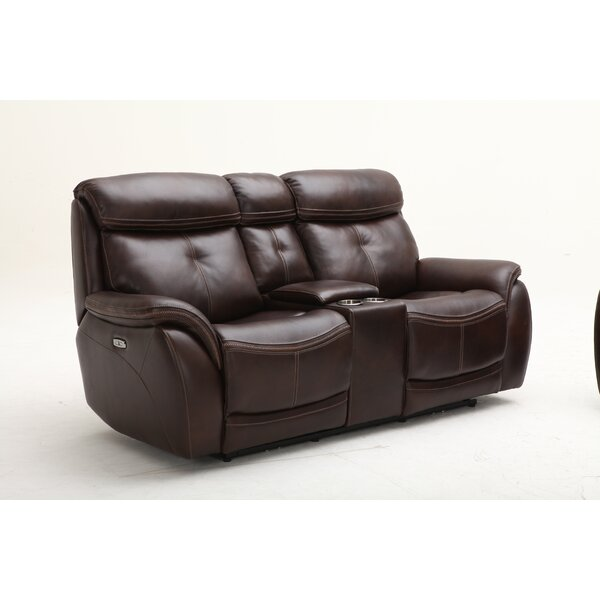 Buy Online Discount Homerun Leather Reclining Loveseat by Southern Motion by Southern Motion