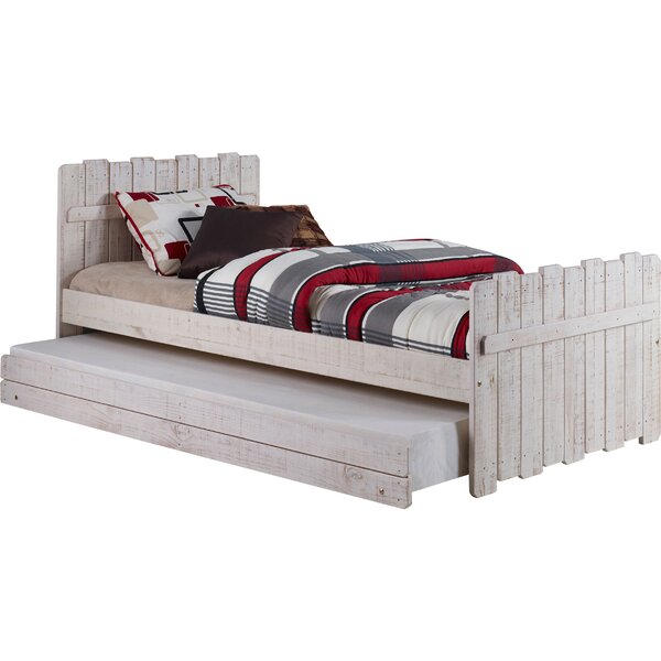 Wander Twin Panel Bed with Trundle by Harriet Bee