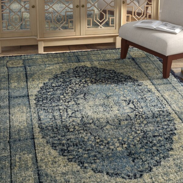 Petillo Blue/Beige Area Rug by Bungalow Rose
