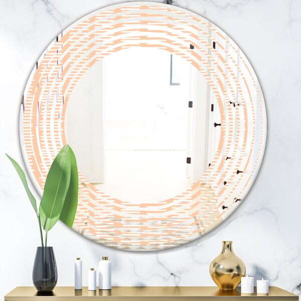 Wave Abstract Lines Pattern Modern & Contemporary Frameless Wall Mirror