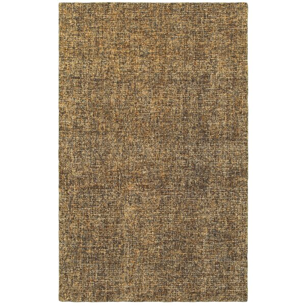 Laguerre Boucle Hand-Hooked Wool Brown/Beige Area Rug by Gracie Oaks