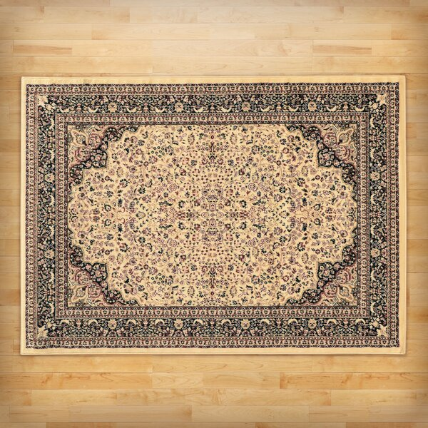 Schneider Traditional Area Rug in Ivory by Three Posts