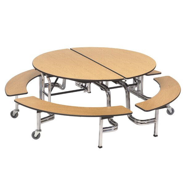 60 Plywood Circular Cafeteria Table by AmTab Manufacturing Corporation