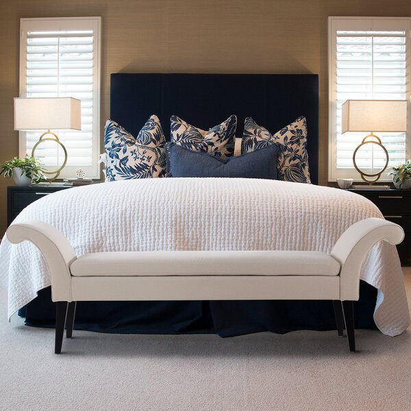 Cleethorpes Flared Arm Bedroom Bench by Everly Quinn